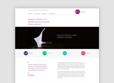 Website design and build for medical company.